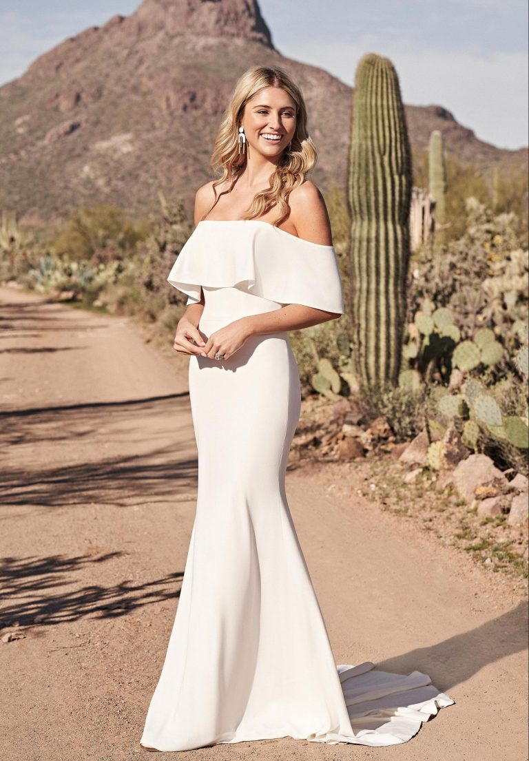 Simply But Striking Fitted Wedding Dress