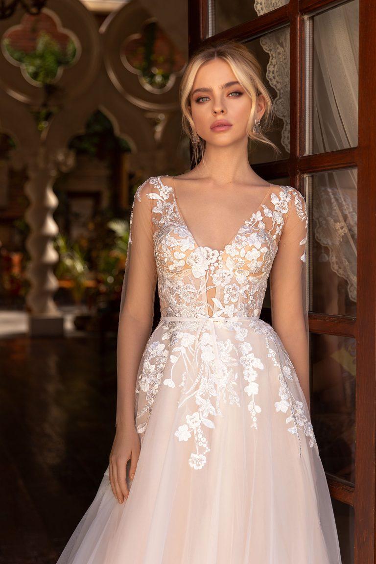Romantic Vintage A-Line Wedding Gown
