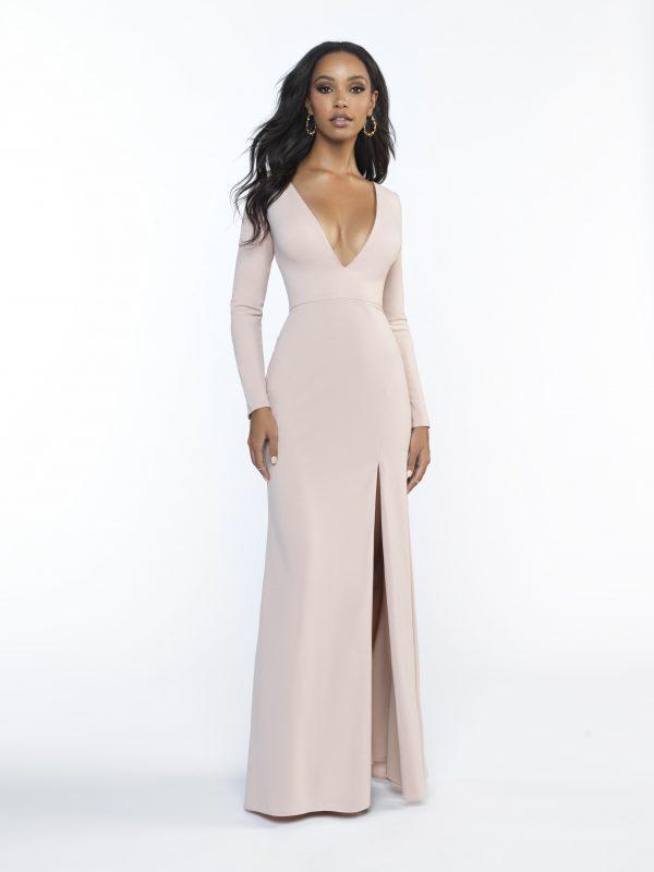 bridesmaid dress with long sleeves