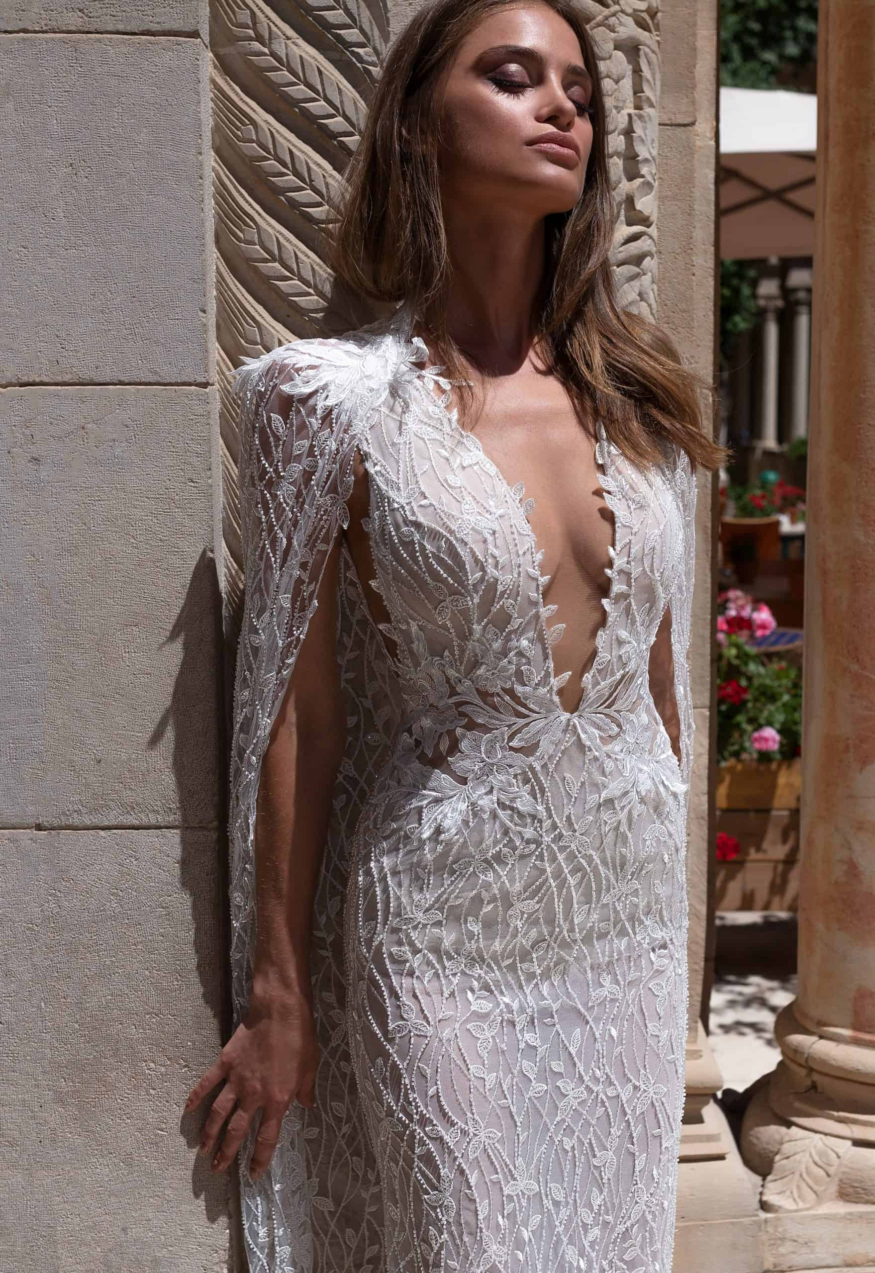 Long Sleeved A-Line Wedding Dress | Isla B Bridal