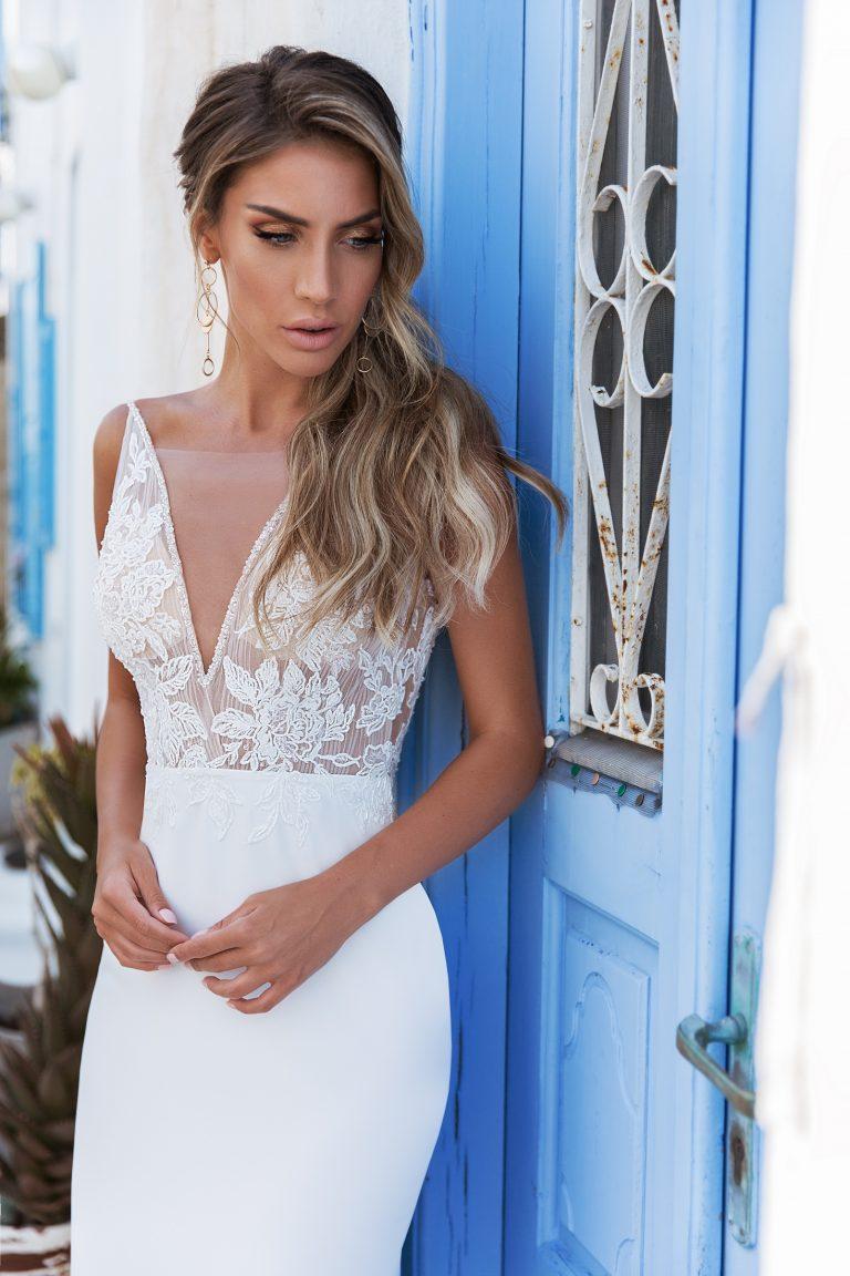 fitted beach wedding dress