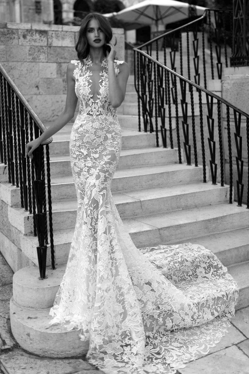 full lace low back wedding dress