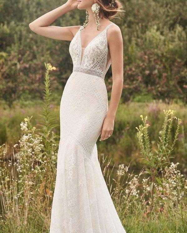Boho Fitted Wedding Dress