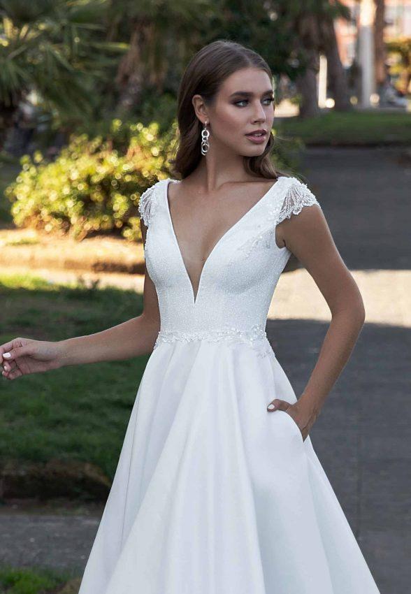 sparkling a-line wedding dress