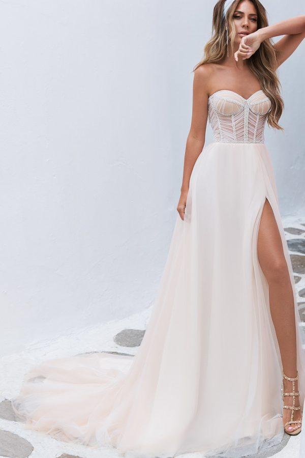 light floating wedding dress