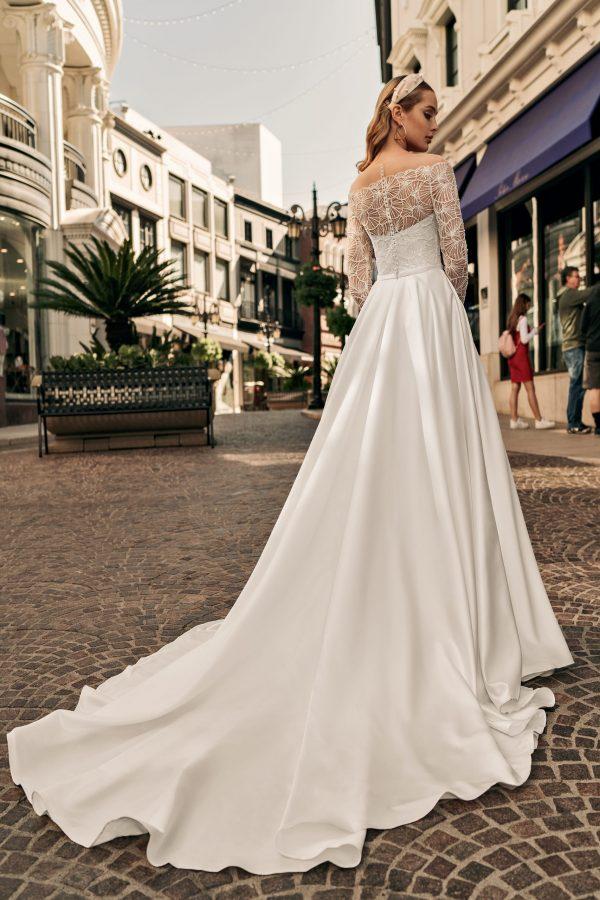 detailed aline wedding dress