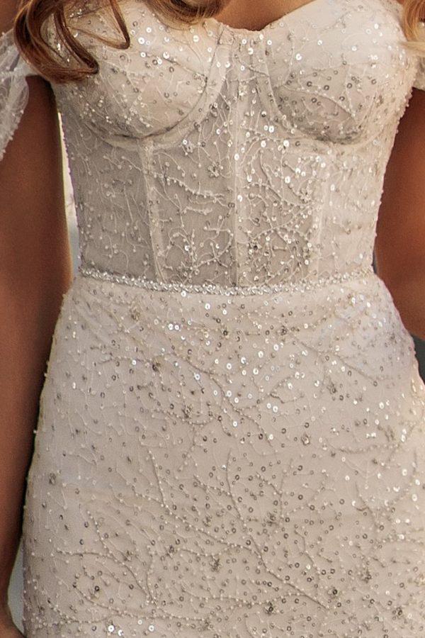 sequin wedding dress