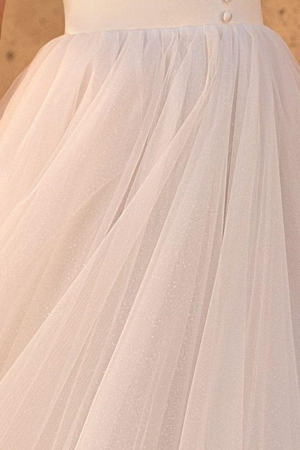 shimmering wedding dress