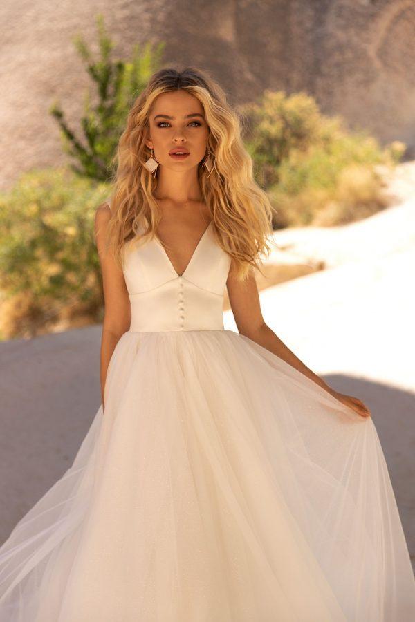 Modern A-Line Wedding Dress