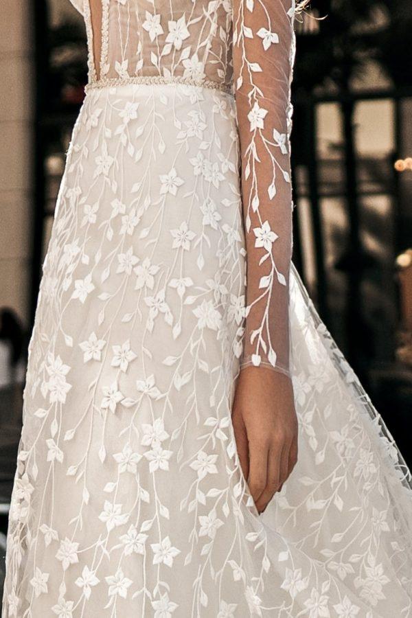 lace skirt wedding dress