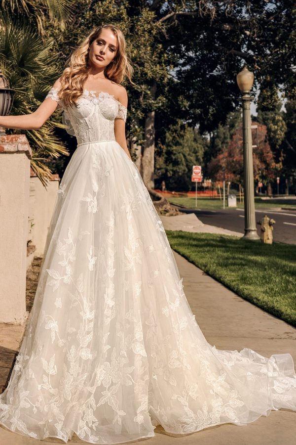 Full Lace A-Line Wedding Dress