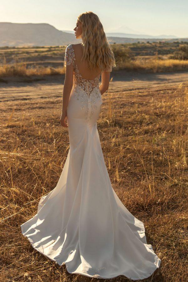 low back detailed wedding dress