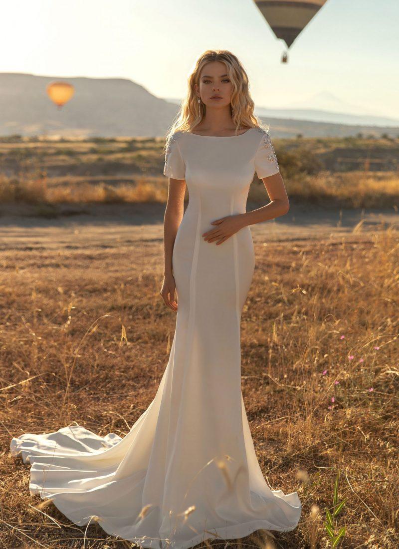 plain wedding dress