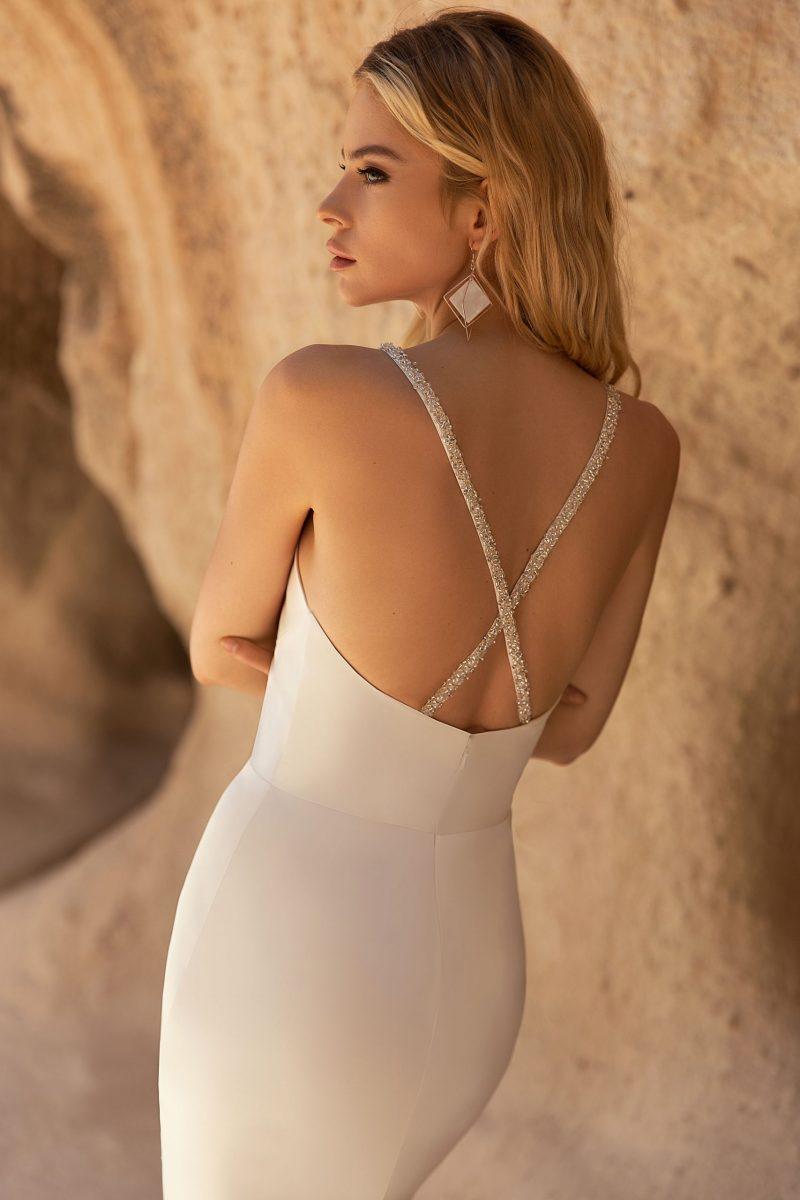 wedding dress with thin straps